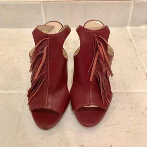 Burgundy / Wine color high heels